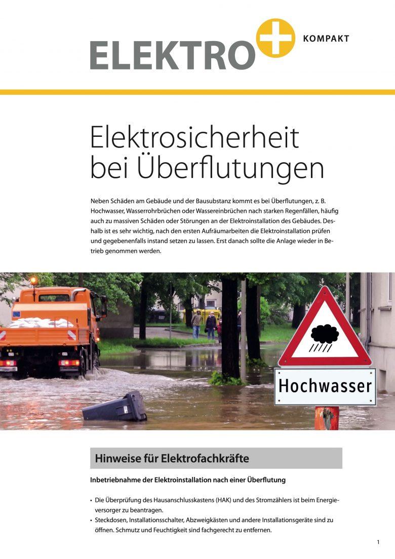 """""""Elektrosicherheit bei Überflutungen"""""""